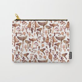 Watercolor Mushrooms Carry-All Pouch