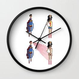 Gal Gadot Wonderwoman pixel art Wall Clock