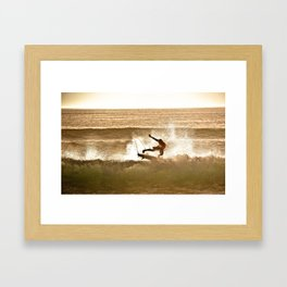 Joel Parko Parkinson Late Afternoon Surf, Hossegor- France - 2013 Framed Art Print