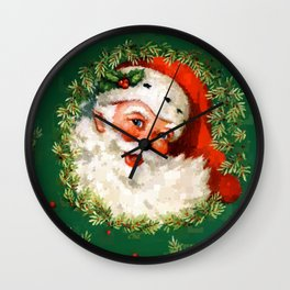Jolly Ole Santa Pixel Wall Clock