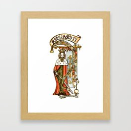 Richard II - Shakespeare Tudor History Illustration Framed Art Print