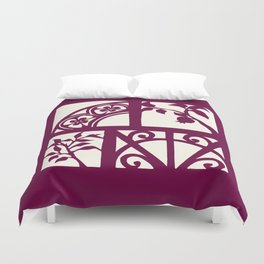 pomegranates and wrought iron Duvet Cover