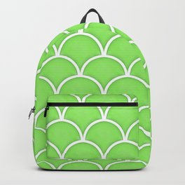 Green Flash large scallop pattern Backpack