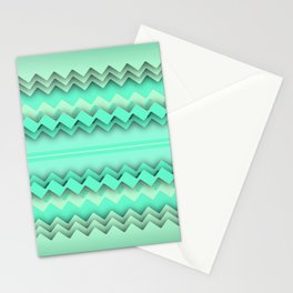 Mint paper zigzag Stationery Cards