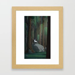 Into the woods 1 Framed Art Print