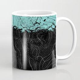 Topography Aqua Coffee Mug
