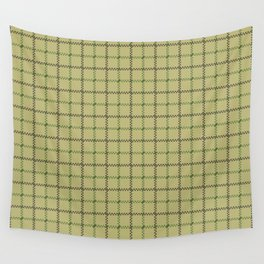Fern Green & Sludge Grey Tattersall Horse Blanket Print Wall Tapestry