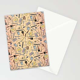 Painter's Supplies - Rose Gold Stationery Cards