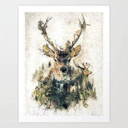 Deer Surrealism Art Print