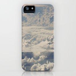 Magical White Cotton Clouds in Mystical Blue Sky iPhone Case
