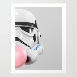 Stormtrooper Bubble Gum 02 Art Print