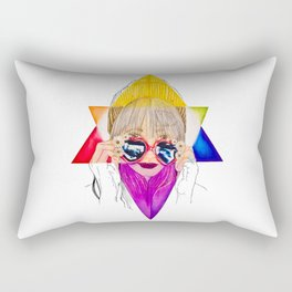 Going to California (With Love in Her Eyes) Rectangular Pillow