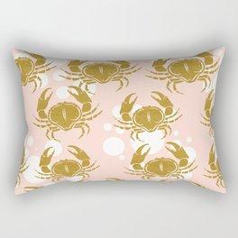 Golden sea crab Rectangular Pillow