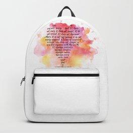 1 Corinthians 13 Love is Patient Backpack