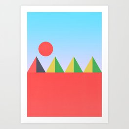 Pyramids in the Sun Art Print