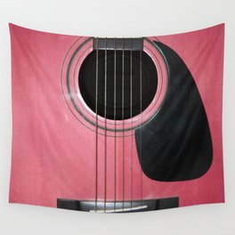 Pink Guitar Wall Tapestry