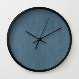 Blue Indigo Denim Wall Clock