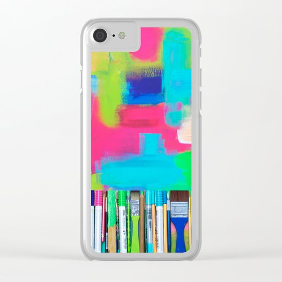 Real Weapons Of Mass Creation Clear iPhone Case