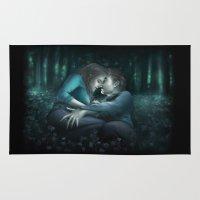 saga Area & Throw Rugs featuring The Meadow. The Twilight Saga by Natali Simonenko