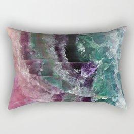 Pink & Green Watermelon Tourmaline Crystal Rectangular Pillow