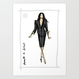 Annette in SOLDAT Art Print