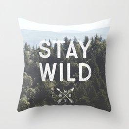 Stay Wild - Mountain Pines Throw Pillow