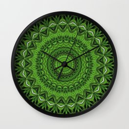 Regardlossly Plaid Mandala 3 Wall Clock