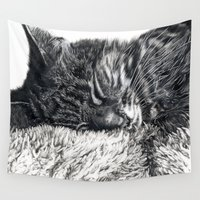 charlie Wall Tapestries featuring Charlie by Lucy Schmidt Art