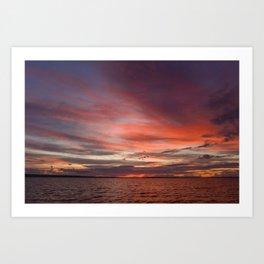 sky colors at sunset Art Print