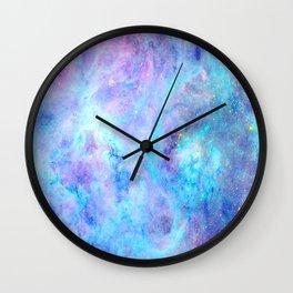 Bright Tarantula Nebula Aqua Lavender Periwinkle Wall Clock