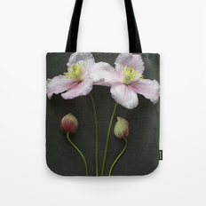 Clematis Flowers and Buds Tote Bag