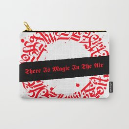 There Is Magic In The Air - Red Celtic Circle Carry-All Pouch