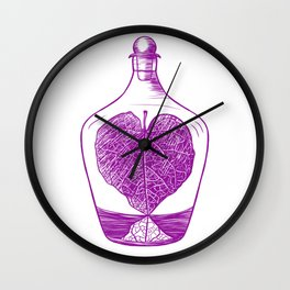 Lucky Leaf Potion Wall Clock