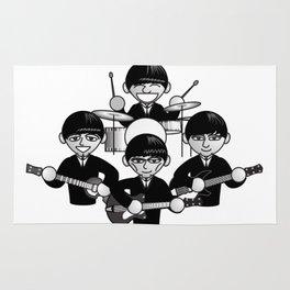 liverpool quartet Rug