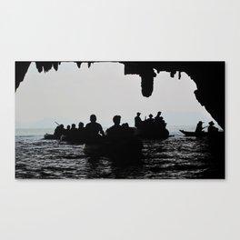 In the deep dark caves Canvas Print