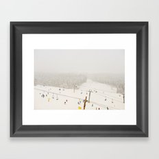 powder day Framed Art Print
