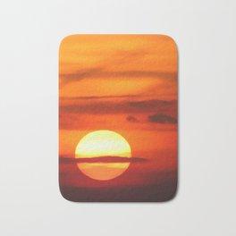 Sunset at Devil's Dyke (UK) Bath Mat