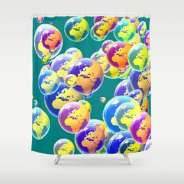 So many worlds Shower Curtain