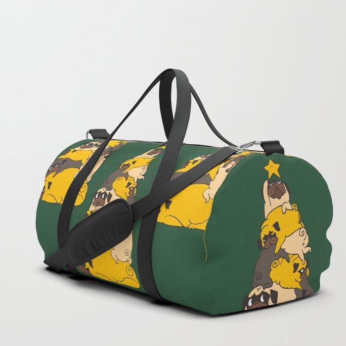 Christmas Tree Pugs Duffle Bag