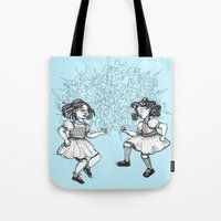 dancing Tote Bags featuring Dancing by Required Animals