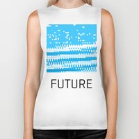 future Biker Tanks featuring Future by Blank & Vøid