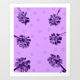 Palm Tree Extacy Art Print