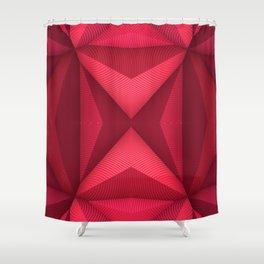 Origami - Fuchsia Shower Curtain