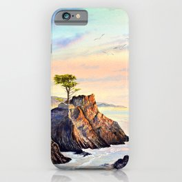 Lone Cypress Tree Pebble Beach California iPhone Case