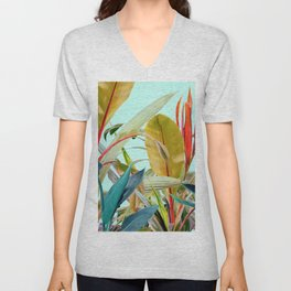 Tropical Jungle Unisex V-Neck