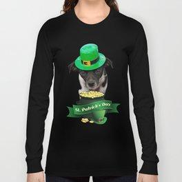 St. Patricks Day Dog Long Sleeve T-shirt