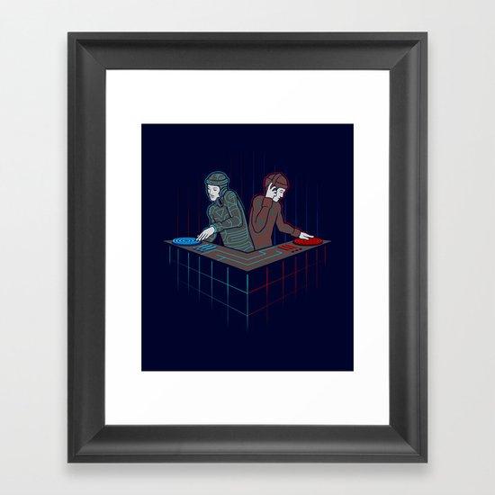 Techno-Tron-ic Framed Art Print