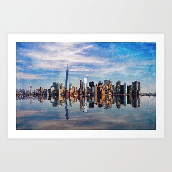 New York Reflections Art Print