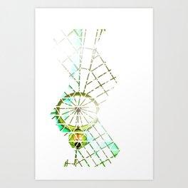 Trigrid Art Print