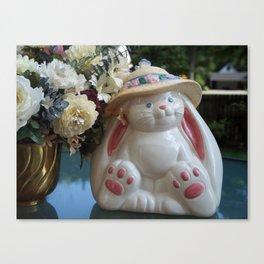 A White Rabbit Canvas Print